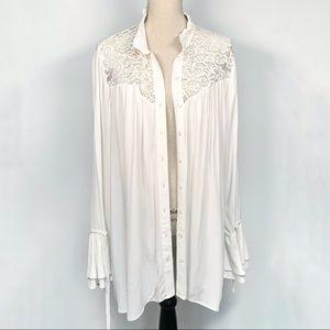 Love & Legend White Long Sleeve Blouse